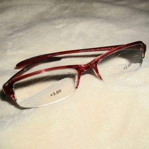 Equate Manhattan Red Reading Glasses +3.00 NWT